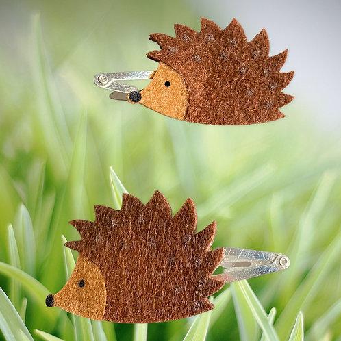 Hedgehog Hair Clips