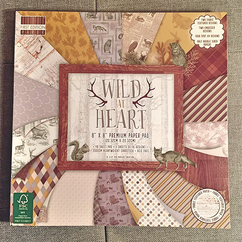 First Edition Wild At Heart 8x8 paper pad
