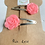 Thumbnail: Pink Rose Hair Clips