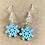 Thumbnail: Icy Blue Snowflake Earrings