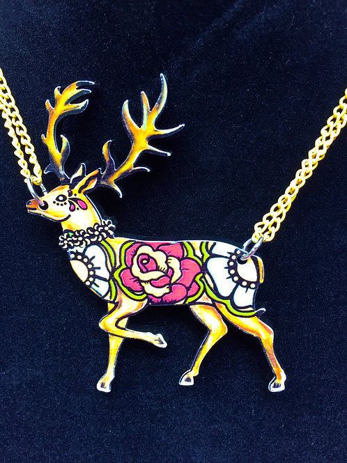 Decorative Stag Necklace