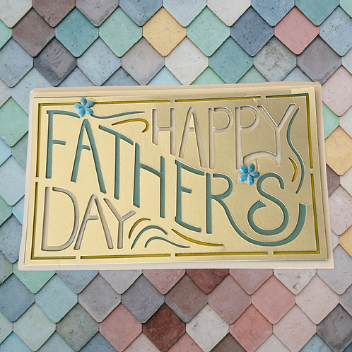 Happy Father's Day layered card
