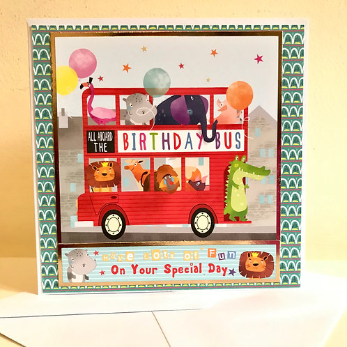 Birthday Bus Card