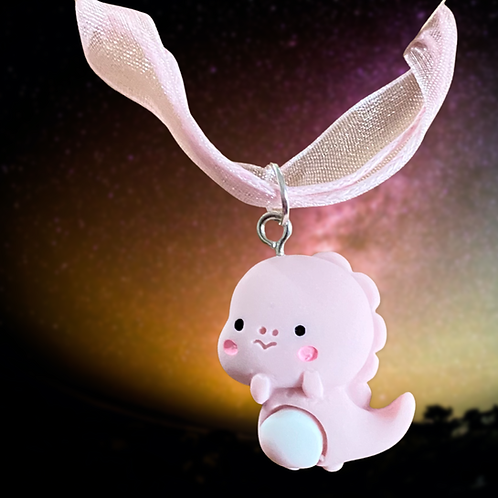 Baby Pink Dragon Necklace