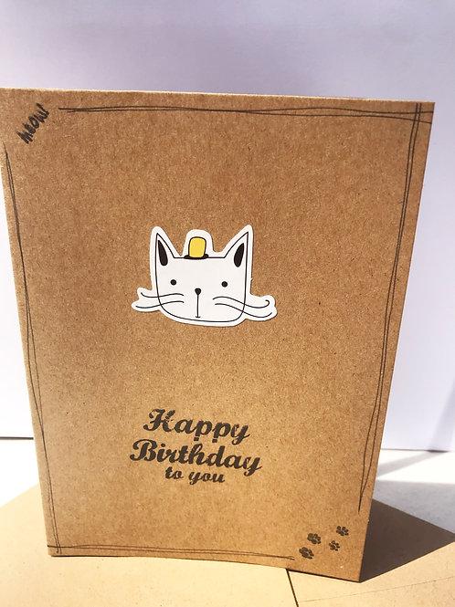 Happy Birthday Card - Yellow Hat