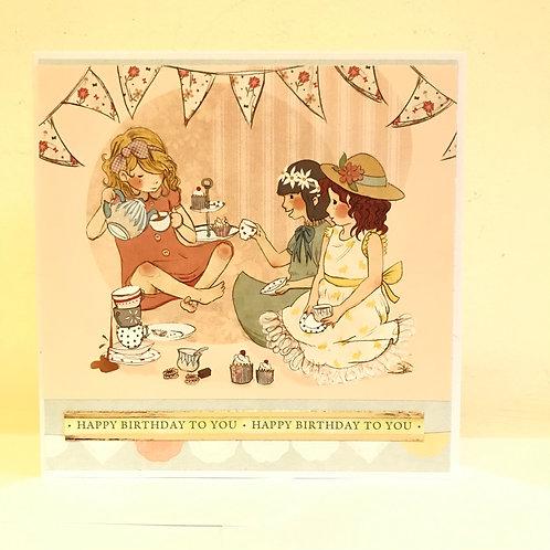 Happy Birthday Tea Party Card