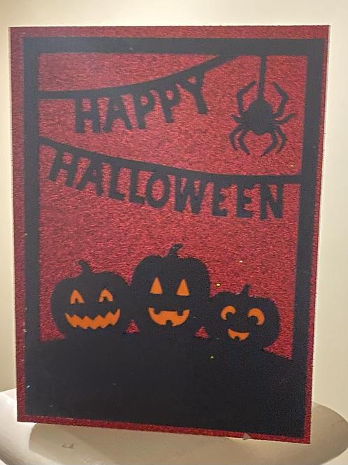 Glitter Pumpkins Card