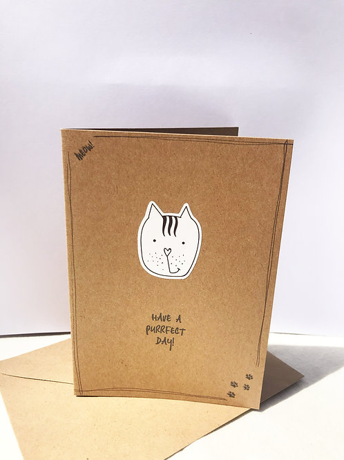 Purrfect Day Card - Kitty Cat