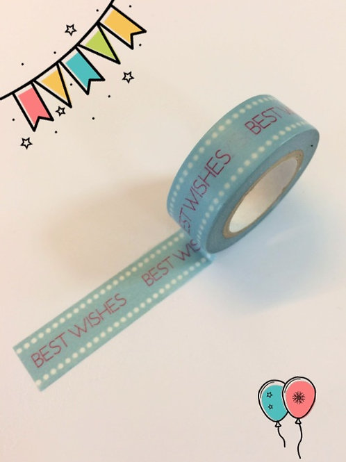 Dovecraft Washi Tape - Best Wishes