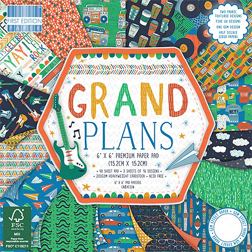 First Edition - Grand Plans 6x6 Paper Pad