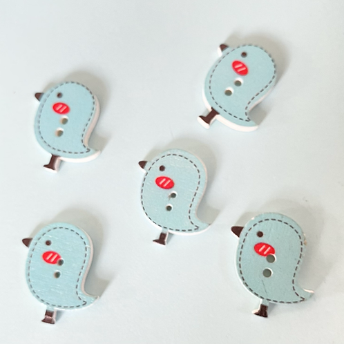 Blue Bird Buttons