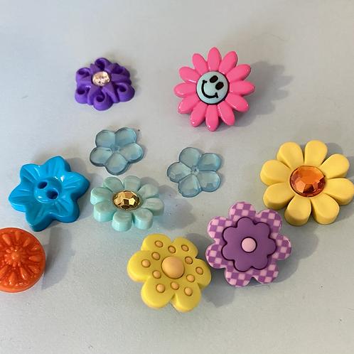 Assorted Flower Buttons
