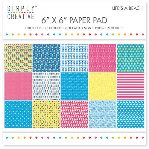 Simply Creative - Life's a Beach 6x6 Paper Pad