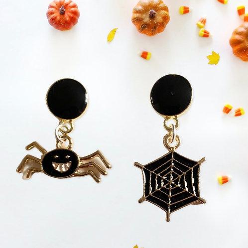Spider & Web Earrings