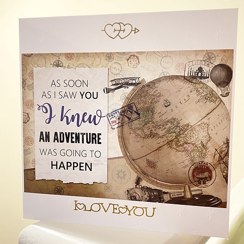 Adventures with you card