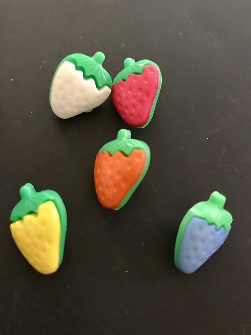 Abstract Strawberry Buttons