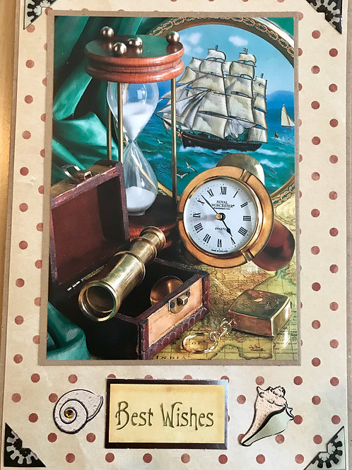 Nautical Scene Best Wishes Card