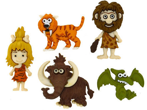 Stone Age - Cave people buttons