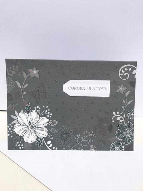 Monochrome Congratulations Card