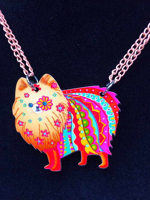 Colourful Pomeranian Necklace