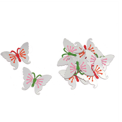 Mirror Effect Butterfly Embellishments