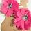Thumbnail: Sparkly Gem Flower Hair Clips (Pink)