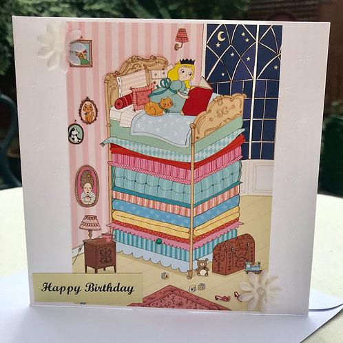 Princess and the Pea Fairytale Birthday Card