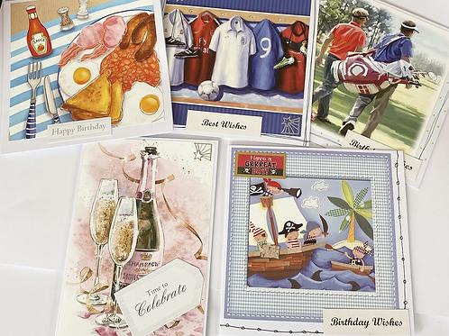 Handmade Cards Multipack (5 cards) - Birthday Value Range (No. 3)