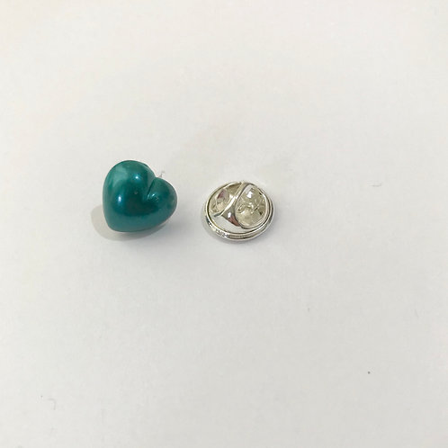 Metallic Heart - Pin Badge