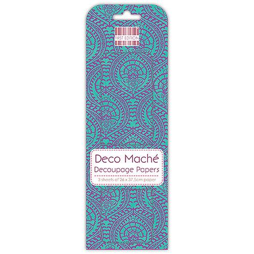 First Edition Deco Mache - Blue Decorative