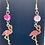 Thumbnail: Fancy Flamingo Earrings