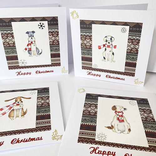 Happy Christmas Doggo Cards (4pk)