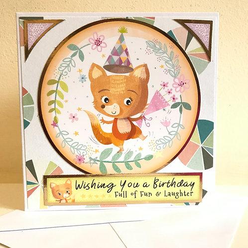 Fun Fox Birthday Card