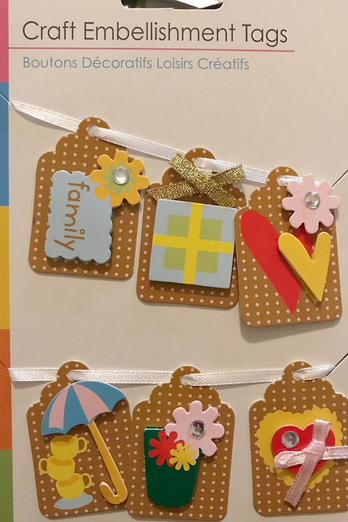 Family Theme Craft Tags