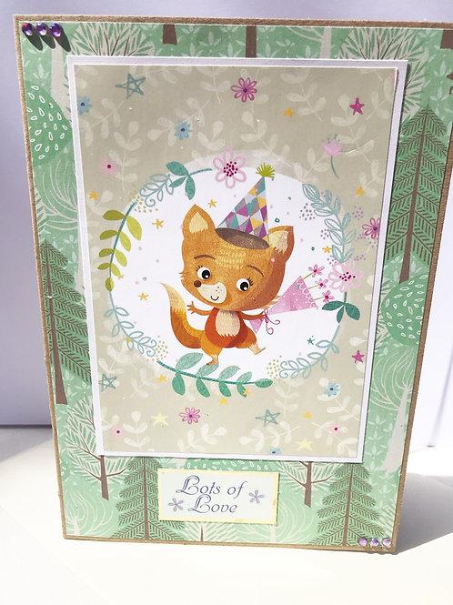Lots of Love Fox Card