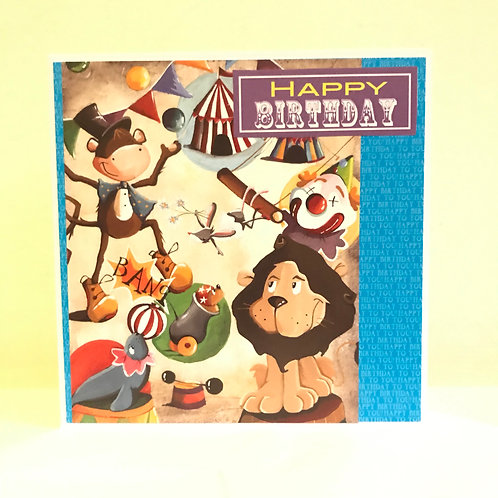Happy Birthday Circus Card