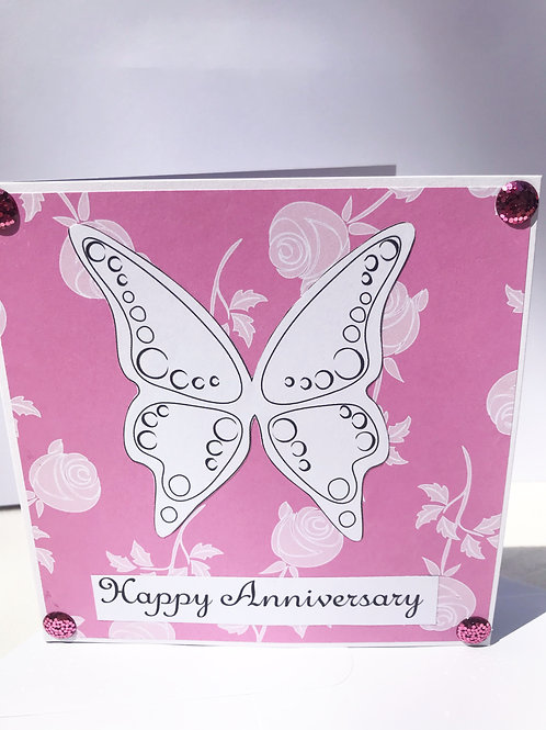 Butterfly Anniversary Card