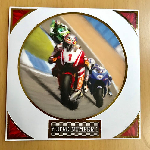 Racing Bike -You're Number One Card