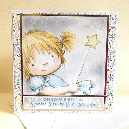 Sparkle like a star - Birthday Card