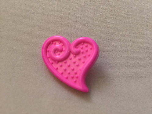 Embossed Heart Buttons