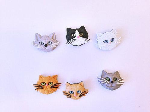Fuzzy Feline Buttons