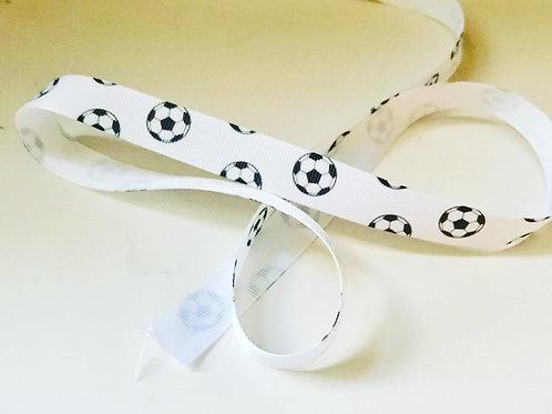 Football Grosgrain Ribbon