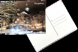 A6 Postkort - Kongsberg kirke - Vare nr.