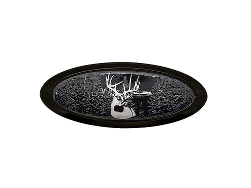 Buck in Woods 3D Overlay Emblem Ford Oval F150 Emblem
