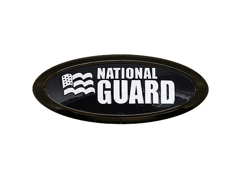 National Guard 3D Overlay Emblem Ford Oval F150 Emblem