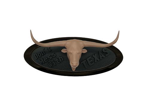 Texas Longhorn 3D Overlay Emblem Ford Oval F150 Emblem