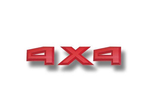 """4X4 3D Truck Emblems, 3"""" Tall, Fits Any Truck"""