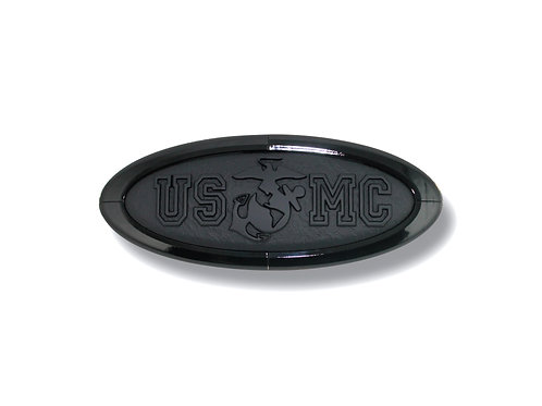 """USMC"" Marines 3D Overlay Emblem Ford Oval F150"