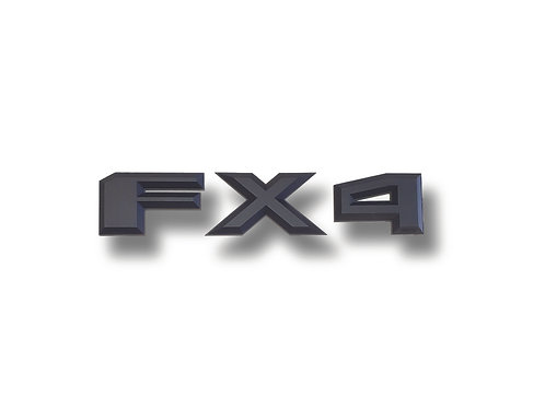 """FX4 3D Truck Emblems, 4"""" Tall, Fits any Ford Truck"""