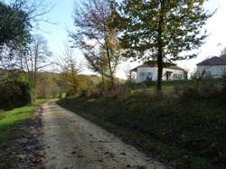 landweg langs terrein